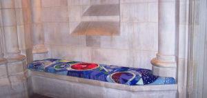 decorative needlepoint bench cushion