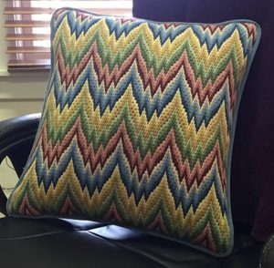 decorative needlepoint pillow